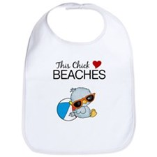 This Chick Loves Beaches Baby Bib