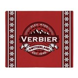 Verbier Red Throw Blanket