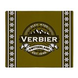 Verbier Olive Throw Blanket