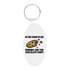 Chocolate Chip Friends Aluminum Oval Keychain