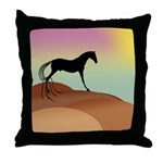 desert horse Throw Pillow