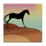 desert horse Tile Coaster
