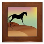 desert horse Framed Tile