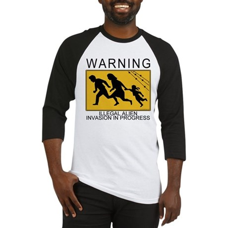 Illegal Invasion Warning Baseball Jersey