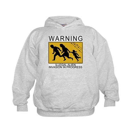 Illegal Invasion Warning Kids Hoodie