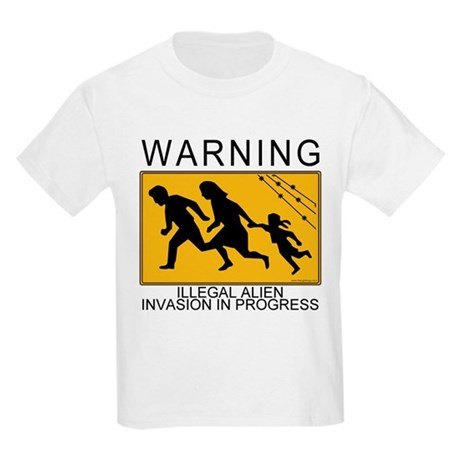 Illegal Invasion Warning Kids T-Shirt