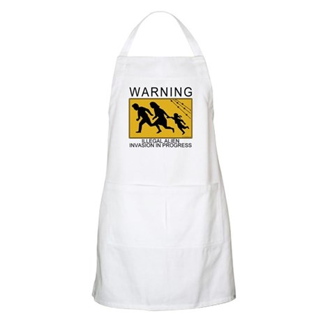 Illegal Invasion Warning BBQ Apron