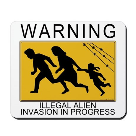 Illegal Invasion Warning Mousepad