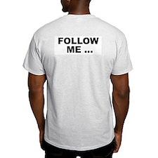 Alpha Lemming Ash Grey T-Shirt (Back shown)