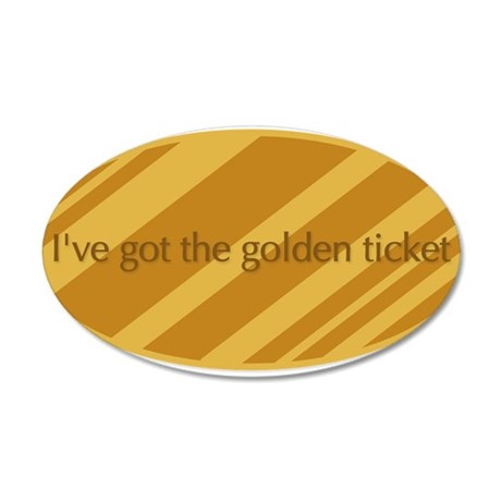 The Golden Ticket 38.5 x 24.5 Oval Wall Peel