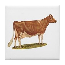 Cute Dairy cow Tile Coaster