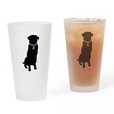Golden Retriever Breast Cancer Support Drinking Gl