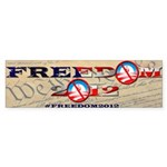 Freedom 2012 Bumper Sticker (Bumper)