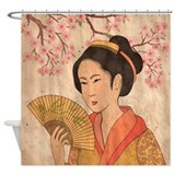 Japanese Geisha Shower Curtain