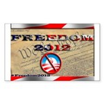 Freedom 2012 Sticker (Rectangle 50 pk)