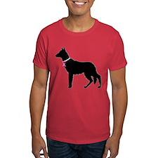 German Shepherd Breast Cancer Support T-Shirt