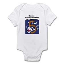 Cute Fifth army Infant Bodysuit