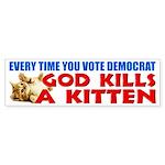"""Every Time You Vote Democrat"" Sticker"