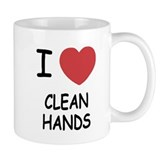 i heart clean hands Mug
