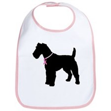 Fox Terrier Breast Cancer Support Bib