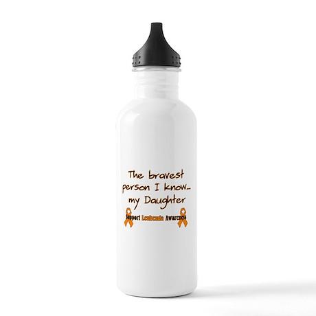 Orange Brave Daughter.png Stainless Water Bottle 1