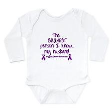 Purple Husband Brave.png Long Sleeve Infant Bodysu