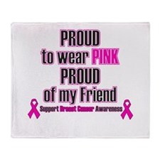 Pink Friend Proud.png Throw Blanket