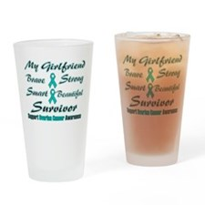 Teal Girlfriend Words.png Drinking Glass