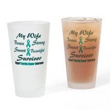 Teal Wife Words.png Drinking Glass