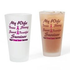 Pink Wife Words.png Drinking Glass