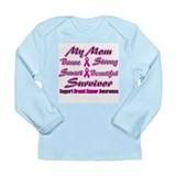 Pink Mom Words.png Long Sleeve Infant T-Shirt