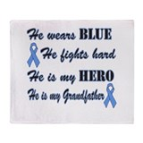 He is Grandfather Lt Blue Hero.png Throw Blanket