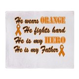 He is Father Orange Hero.png Throw Blanket