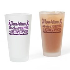 Pancreatic Survivor Fighter.png Drinking Glass