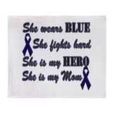 She is Mom Blue Hero.png Throw Blanket