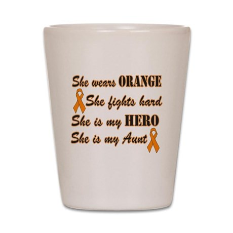 She is Aunt Orange Hero.png Shot Glass