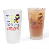 For my Granddaughter Drinking Glass