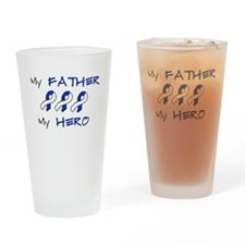 Hero Father Blue and White Drinking Glass