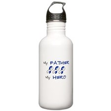 Hero Father Blue and White Water Bottle