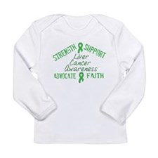 Liver Cancer Awareness Long Sleeve Infant T-Shirt