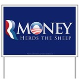 RMoney Herds the Sheep Yard Sign