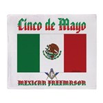 Cinco De Mayo Mason Throw Blanket