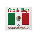 Cinco De Mayo Mason Throw Blanket