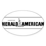 Compton Herald American Sticker (Oval 50 pk)