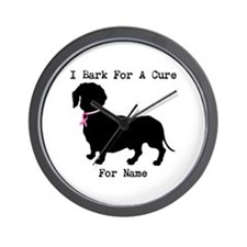 Dachshund Personalizable I Bark For A Cure Wall Cl