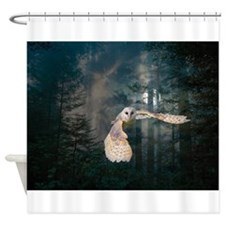 Owl at Midnight Shower Curtain