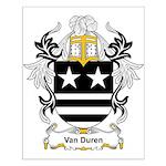 Van Duren Coat of Arms Small Poster