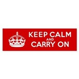 Keep Calm and Carry On Car Sticker