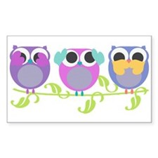 see hear speak no evil owls Decal