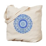 indigo blue third eye sixth chakra mosaic circle T